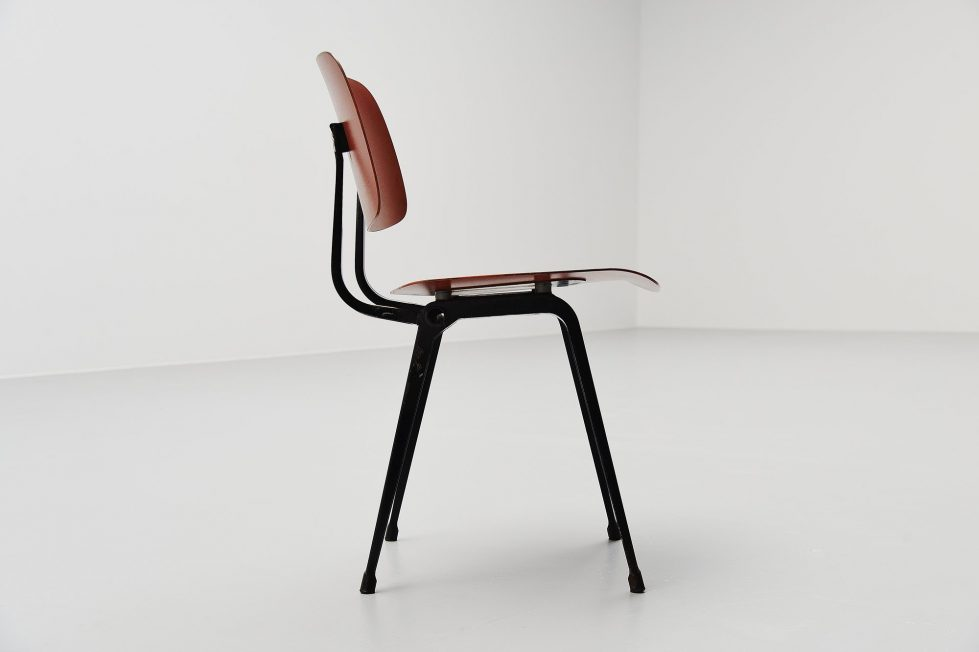 Friso Kramer Revolt chairs for Ahrend de Cirkel 1953 black colors