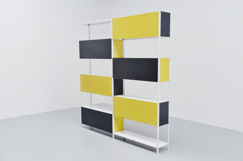 Friso Kramer Asmeta double bookcase for Bijenkorf 1953
