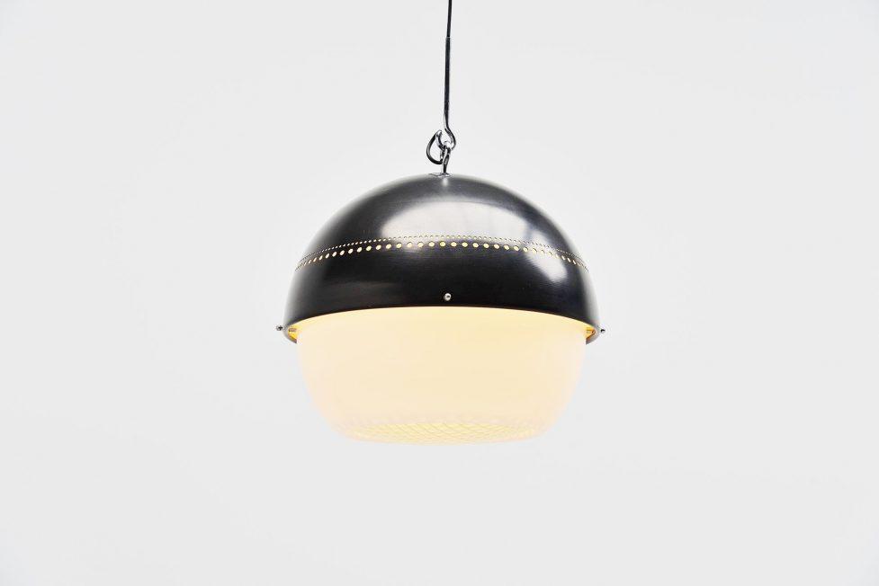 Sergio Asti black 2048/px pendant lamp Arteluce Italy 1959