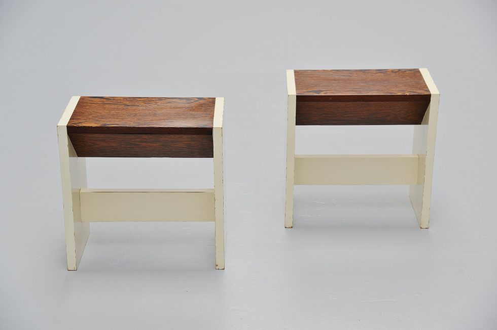 Pieter Maris architectural stools Holland 1960