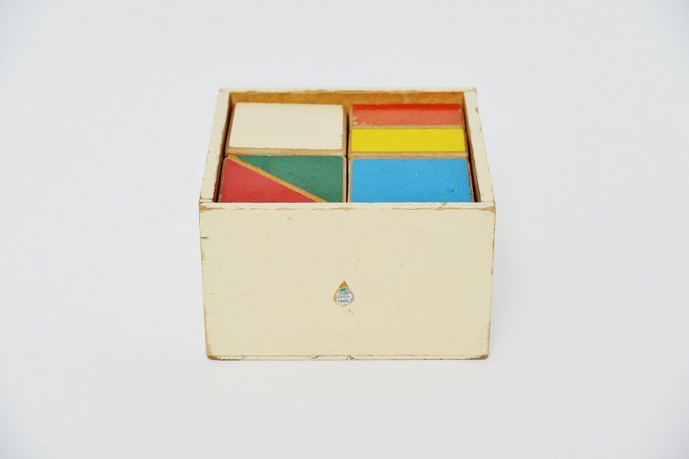 Ado puzzle cubes box Ko Verzuu Holland 1955