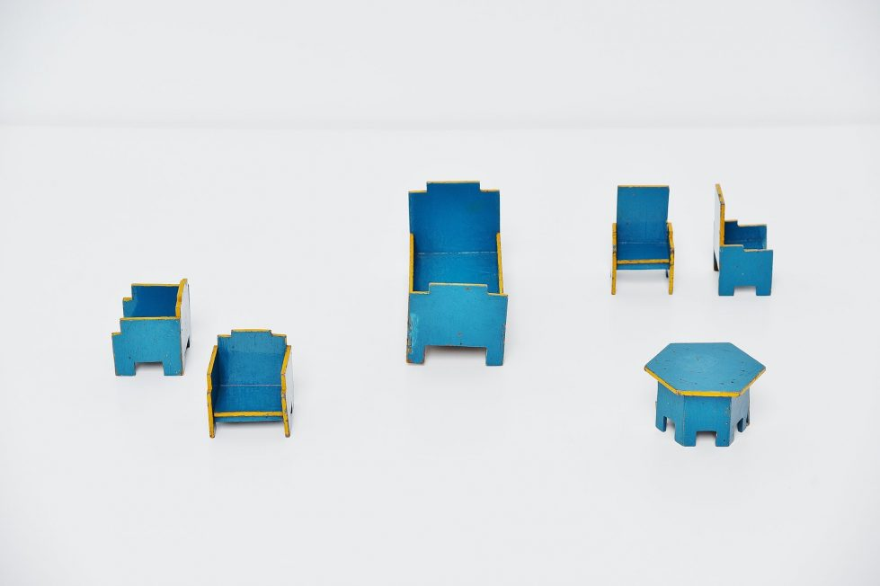 Ado chairs set Ko Verzuu Holland 1932
