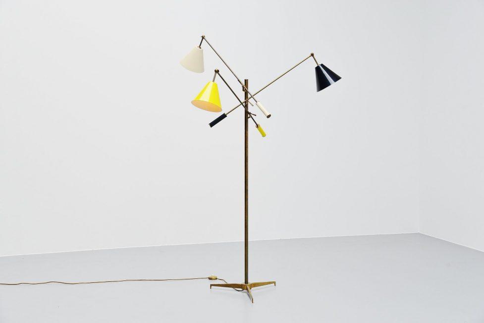 Angelo Lelli Triennale floor lamp Arredoluce, Italy 1947