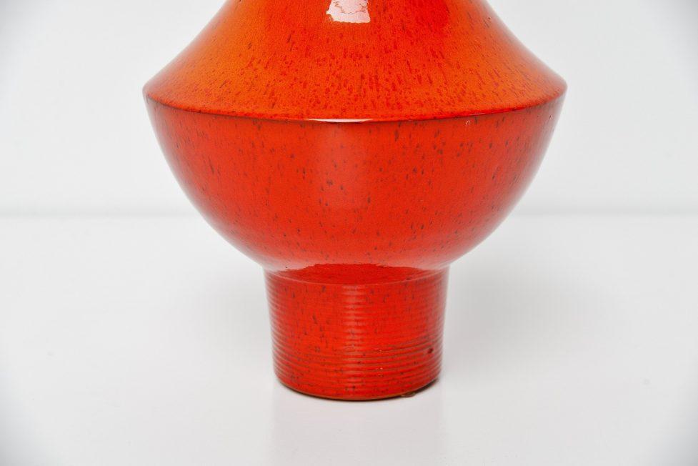 Amphora Rogier Vandeweghe ceramic large size vase Belgium 1963