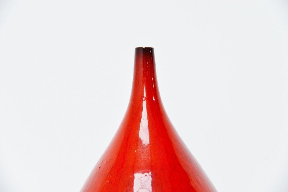 Amphora Rogier Vandeweghe large ceramic belly vase Belgium 1963